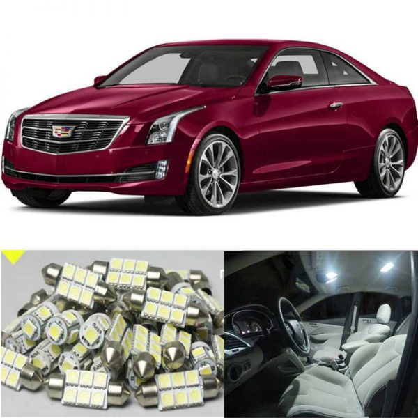 16×Xenon White LED Interior Light Package Kit for CADILLAC ATS 2013-2015