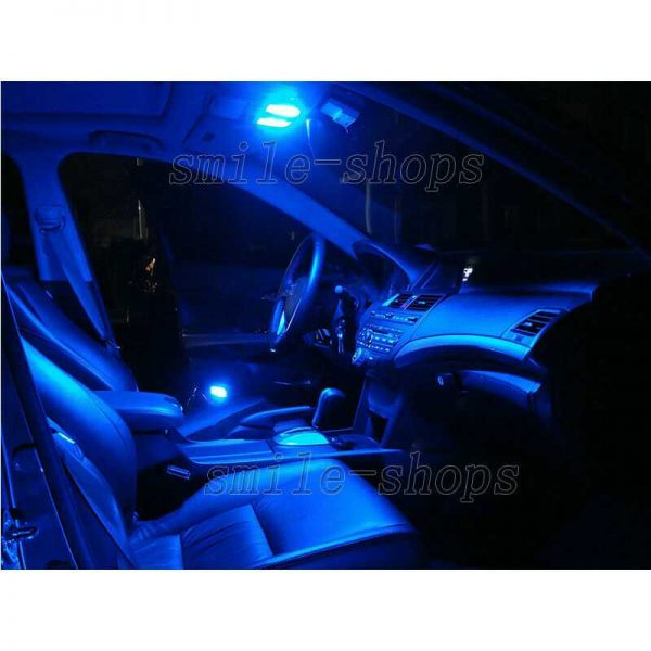 9pcs Ultra Blue LED Interior Light Package Fit For 2011-2012 Infiniti G25