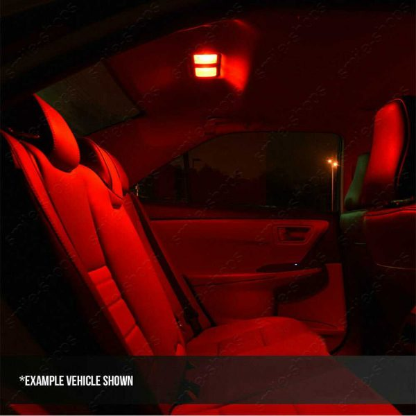 19Pcs Brilliant Red LED Interior Light Bulb Package Fit For 2000-2006 BMW X5 E53