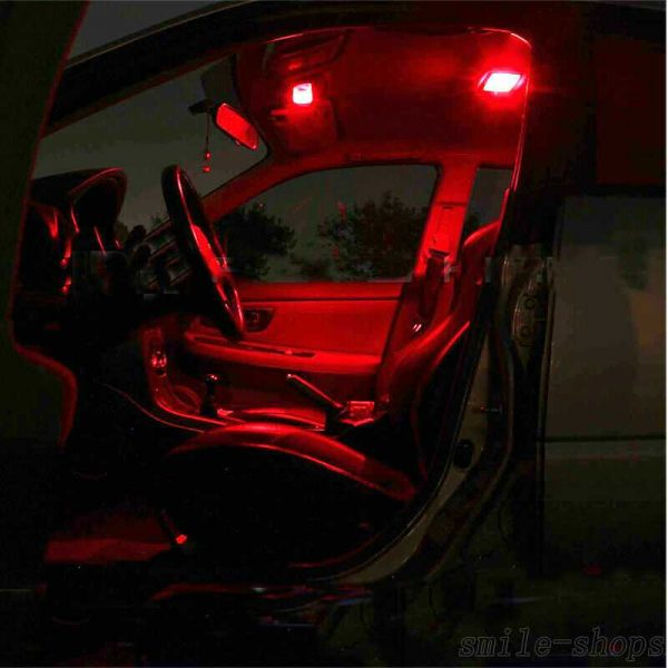 10pcs Red Interior LED Light Package Kit For 2007-2016 2017 2018 Toyota Camry