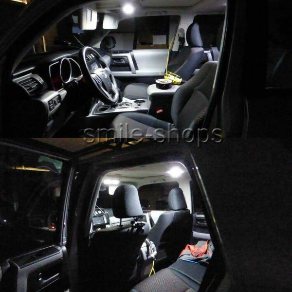 12x White LED Interior Lights package kit For 2016-2018 2019 Toyota Tacoma +Tool