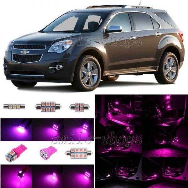 7pcs Pink/Purple LED Interior Lights Package Fit For 2010-2013 Chevy Equinox