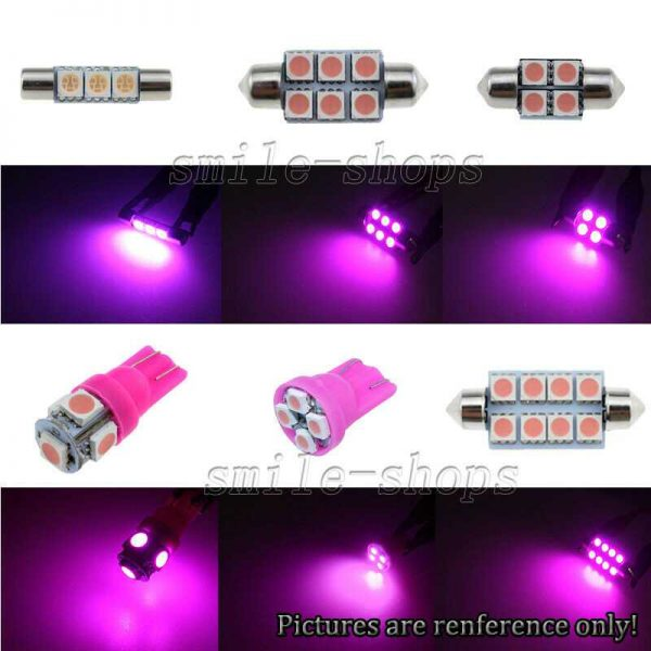 7x Pink/Purple LED Interior Lights Package For 2005-2007 Chevrolet Chevy Malibu