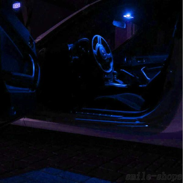 13 x Bright Ultra Blue Interior LED Light Package Kit For Chevy Impala 2006-2013