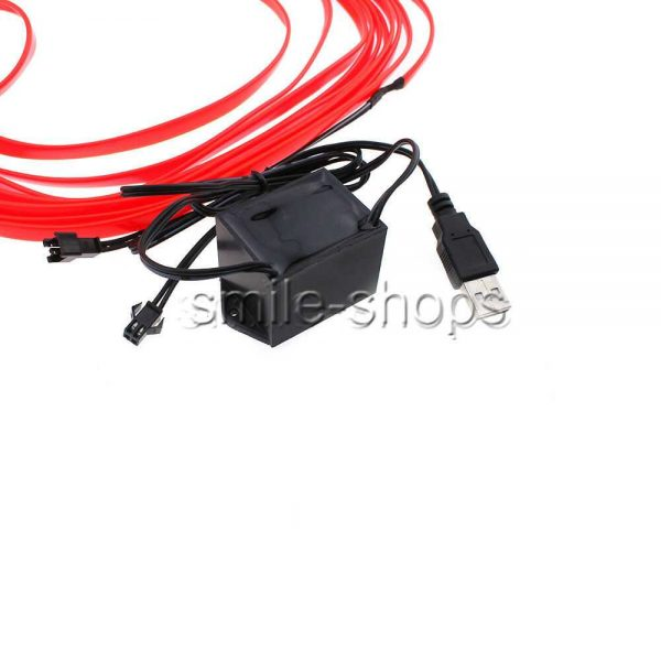 10M 12V Car Vehicle Ambient Interior Red Cold Light Strip Atmosphere Neon Lamp