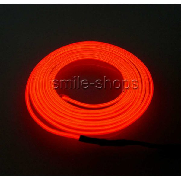 3M 12V Car Vehicle Ambient Interior Red Cold Light Strip Atmosphere Neon Lamp