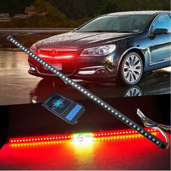 """22"""" 56CM Red 48 LED Knight Rider Strip Light Under Hood Behind Grille For Acura"""