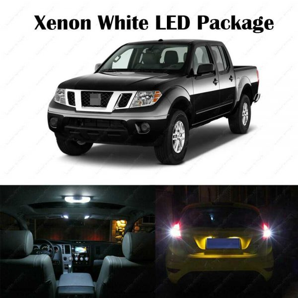 9 x White LED Interior Bulbs + Reverse + Tag Lights For 2005-2017 2018 Frontier