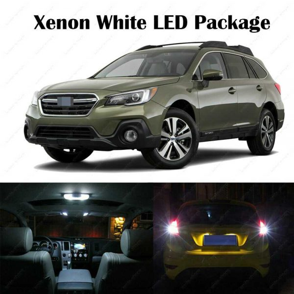 14 x White LED Interior Bulbs + Reverse + Tag Lights For 2010-2017 2018 Outback