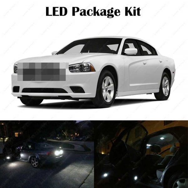 18 x White LED Interior Bulbs + Reverse + Tag Lights For 2011-2014 Dodge Charger