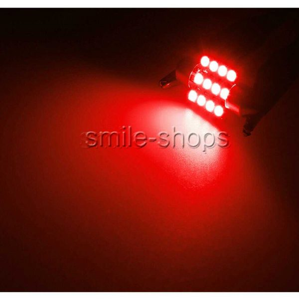 14X Red LED Light Interior Package Kit Fit T10 & 31mm Map Dome + License Plate