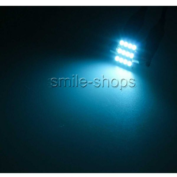 13x Ice Blue LED Car Light Interior Package Kit For Dome License Plate Lamp Bulb