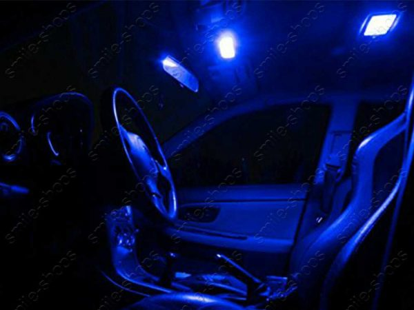 8Pcs Ultra Blue LED Inteiror Lights Package for 2005-2010 Chevrolet Chevy Cobalt