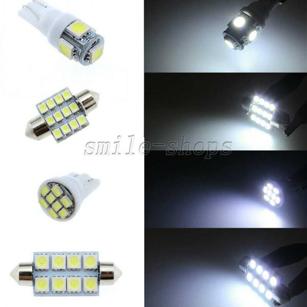 15pcs White Reverse + Tag + Interior LED Lights Fit For 15-17 Chevrolet Colorado