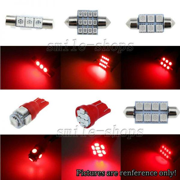 8pcs Brilliant Red LED Interior Light Package Fit For 2010-2015 Kia Forte