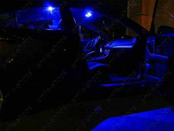 8Pcs 10000K Blue Interior LED Light Package +Tool For Hyundai Accent 2012-2017