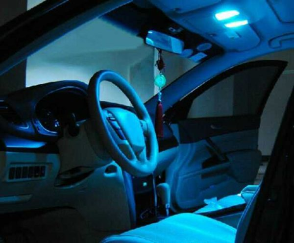 Canbus Ice Blue 12pcs Interior LED Light Kit for 2000-2007 Benz C-Class W203