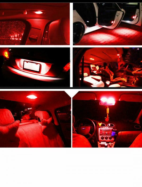 15X Red Error Free Interior LED Light Kit for Mercedes Benz C-class W203 00-07