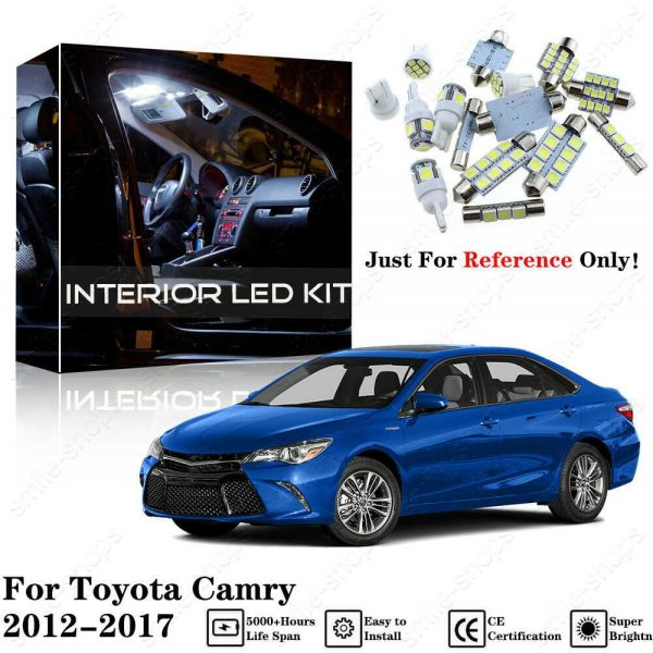 11 x Bright White Interior LED Light Package Kit Deal For Toyota Camry 2012-2017