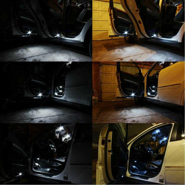8Pcs Xenon White LED Inteiror Light Package Fit For 2004-2007 Toyota Highlander