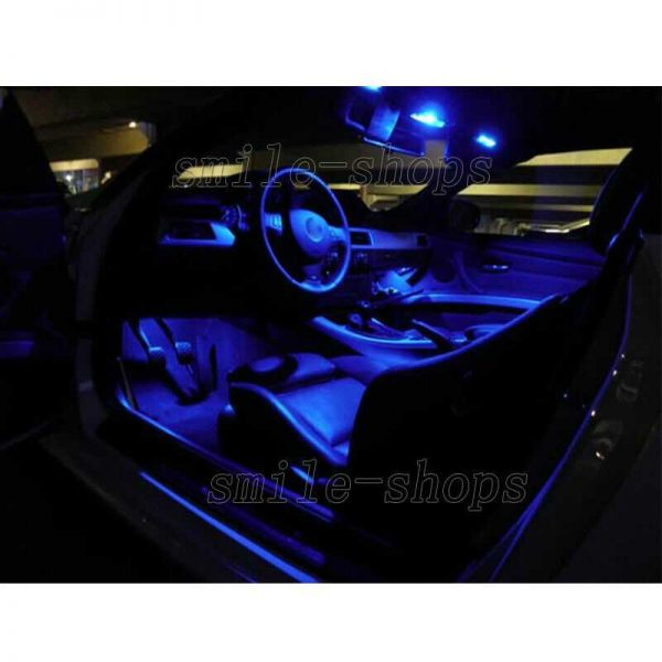 12pcs Ultra Blue LED Interior Lights Package Fit For 2004-2007 Toyota Sequoia