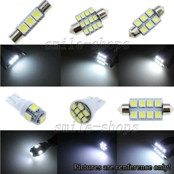 13pcs Xenon White LED Interior Lights Package Fit For 2004-2010 Toyota Sienna