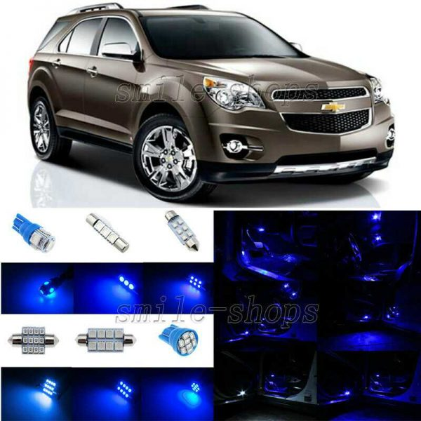7pcs Ultra Blue LED Interior Light Package Fit For 2010-2013 Chevy Equinox