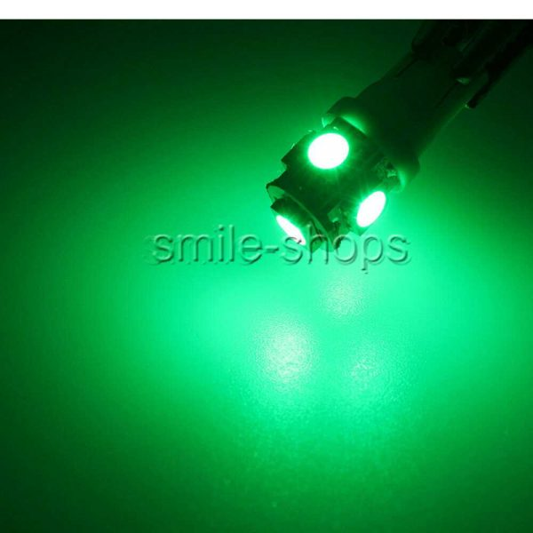 13x Ultra Green LED Car Lights Interior Package Kit Dome License Plate Lamp Bulb