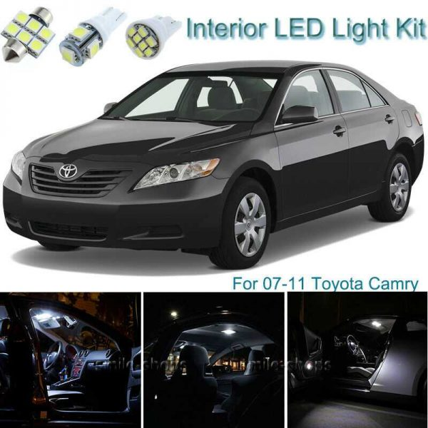 10pcs Bright White Interior LED Light Package Kit Deal For Toyota Camry 07-11