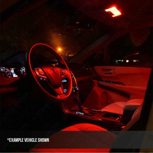 10pcs Bright Red Interior LED Light Bulbs Package Kit For Acura CSX 2006-2011
