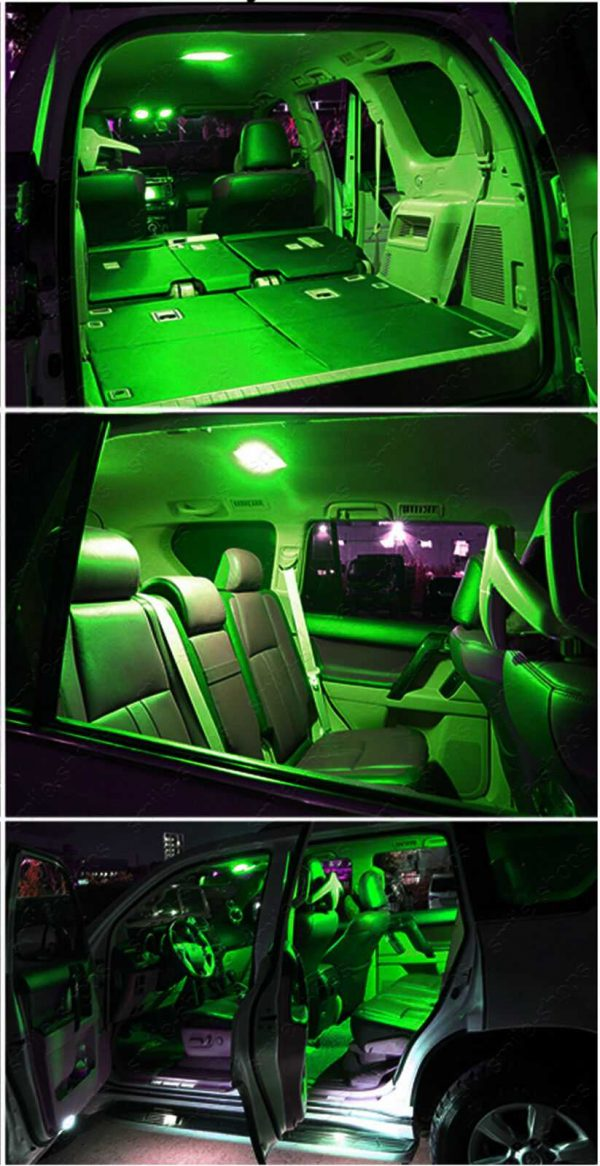 13pcs Bright Green Interior LED Light Package Kit Fit For Acura Legend 1991-1995