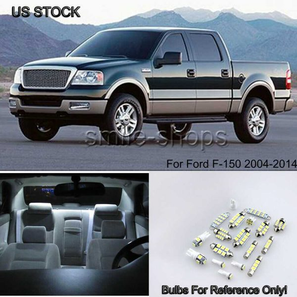 13x Pure White Car LED Light Interior Package Kit For Ford F-150 F-150 2004-2014